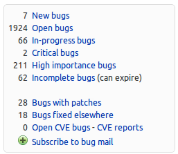 Bug information box